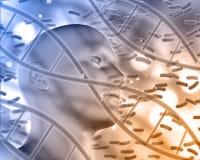 fond 3D médical avec la tête masculine Images stock