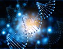 fond 3D médical avec le brin d'ADN Image stock