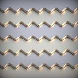 Fond 3d métallique abstrait. Photographie stock libre de droits