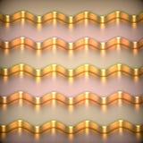 Fond 3d métallique abstrait. Illustration Stock