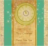 Fond d'an neuf heureux et de Joyeux Noël Image stock