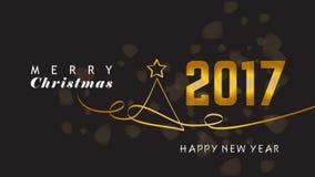 Fond d'an neuf heureux et de Joyeux Noël Photographie stock libre de droits