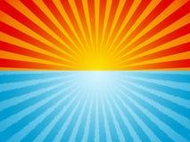 Fond d'océan de lever de soleil illustration stock