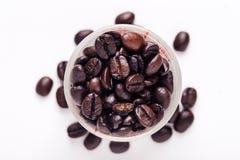 Fond d'oeuvre d'art de grains de café Photographie stock