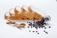 Fond d'oeuvre d'art de grains de café Photos libres de droits