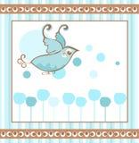 Fond d'oiseau bleu Images stock