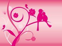 Fond d'oiseau d'amour illustration stock