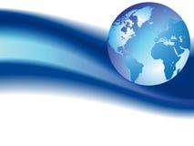 Fond d'onde avec le globe Photographie stock