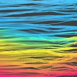 Fond d'onde Grille d'ondulation illustration abstraite de vecteur style de la technologie 3D Illustration avec des points Concept illustration de vecteur