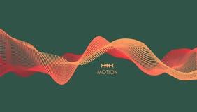 Fond d'onde illustration abstraite de vecteur style de la technologie 3D Illustration avec des points illustration libre de droits