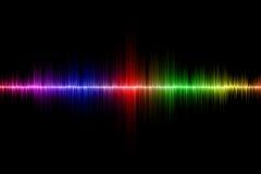 Fond d'onde sonore Images libres de droits