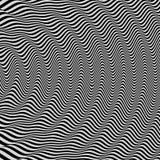fond 3d ondulé Effet dynamique Conception noire et blanche Configuration avec l'illusion optique illustration de vecteur