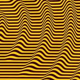 fond 3d ondulé Effet dynamique Configuration avec l'illusion optique illustration libre de droits