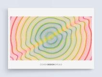 fond 3D onduleux avec l'effet d'ondulation Calibre de conception de couverture Illustration de vecteur Le mod?le peut ?tre employ illustration de vecteur