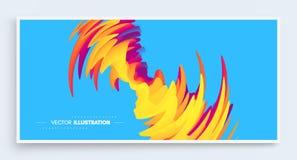 fond 3D onduleux avec l'effet d'ondulation Calibre de conception de couverture Illustration de vecteur Le mod?le peut ?tre employ illustration stock