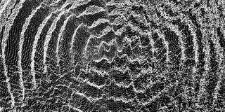 fond 3D onduleux avec l'effet d'ondulation Illustration de vecteur avec la particule surface de la grille 3D illustration stock