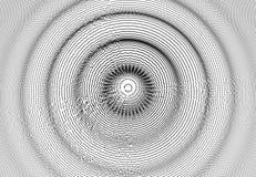 fond 3D onduleux avec l'effet d'ondulation Illustration de vecteur avec la particule surface de la grille 3D illustration libre de droits