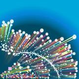 Fond d'optique des fibres Photos libres de droits