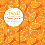 Fond d'oranges de fruit Photographie stock libre de droits
