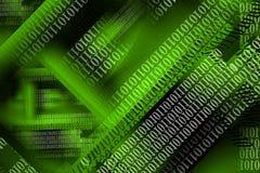 Fond d'ordinateur avec le flux de données Photo libre de droits