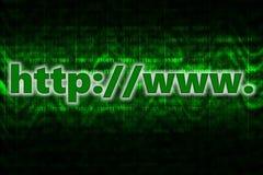 Fond d'ordinateur de HTTP avec le code binaire illustration de vecteur