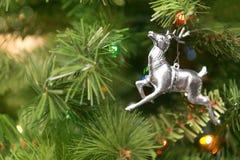 Fond d'ornement d'arbre de Noël Photographie stock