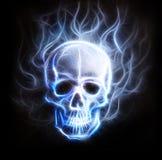 Fond d'ornement de fractale de crâne Image stock
