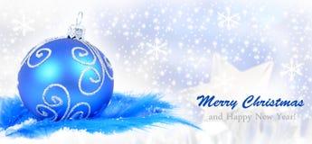 Fond d'ornement de Noël, Photographie stock libre de droits