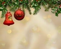 Fond d'ornement de Noël Photo libre de droits