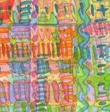 Fond d'ornement peint par aquarelle abstraite Texte de papier Images libres de droits