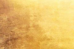 Fond d'or ou textures et ombres, vieux murs et éraflures photographie stock