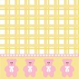 Fond d'ours de bébé Images stock