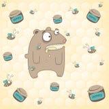 fond d'ours et de miel Photographie stock libre de droits