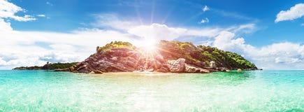 Fond d'outre-mer de littoral de lagune image libre de droits