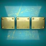 Fond d'or peint dans le bleu Photographie stock