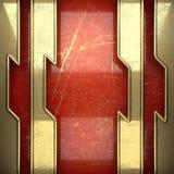 Fond d'or peint en rouge Photographie stock