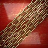 Fond d'or peint en rouge Photographie stock libre de droits