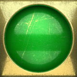 Fond d'or peint en vert Photos libres de droits