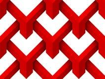 Fond 3d sans couture géométrique rouge illustration de vecteur
