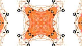 Fond 3D simple abstrait dans la couleur orange de gradient, bas poly style en tant que fond géométrique moderne ou mathématique illustration libre de droits