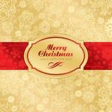 Fond d'étiquette de Noël (vecteur) Photos stock