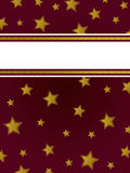 Fond d'étoile d'or Images stock