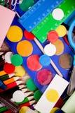 Fond d'un assortiment coloré d'école suppl. Photos libres de droits