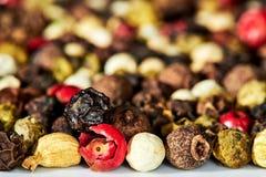 Fond d'un mélange des poivrons Photo libre de droits