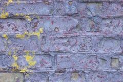 Fond d'un vieux mur de briques utilisé photographie stock libre de droits