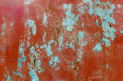 Fond d'une feuille rouge-brun en métal Photographie stock libre de droits