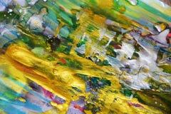 Fond d'or vert argenté élégant d'abrégé sur peinture photo stock