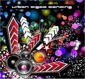 Fond d'événement de disco de musique Images libres de droits