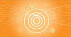 Fond dans l'orange avec l'effet du soleil Photos libres de droits