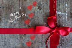 Fond dans le style chic minable pour le jour de valentines Photographie stock
